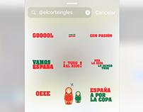 Stickers Mundial 2018 para El Corte Inglés