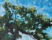 Pointillism Tree
