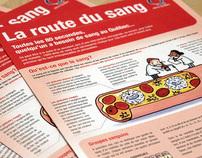 Dépliant La route du sang - Héma-Québec