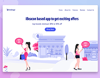 Landing page for an iBeacon based app