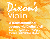 Dixon's Violin Gig Poster