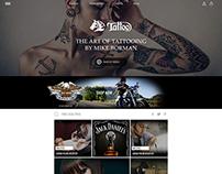 Tattoo Website - UI Design
