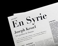 En Syrie, Joseph Kessel