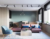 интерьерная визуализация квартиры
