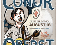 2016 - Conor Oberst live in Grand Island - Ad Mats