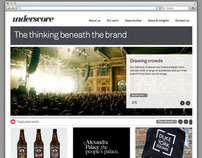 Website design for underscore.