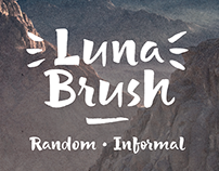 Luna Brush Typeface