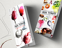 Pepa Tomate menu illustrations