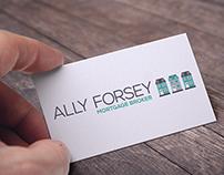 Ally Forsey, Mortgage Broker | Logo design