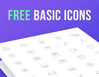 Free Basic Vector Line Icons