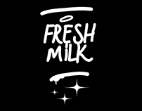 Advertising packaging for FRESH MILK gallery