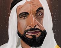 Sheikh Zayed painting
