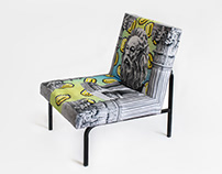 Kitsch project / armchair cover design