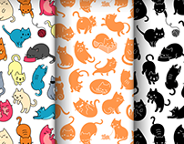 Meowers Seamless Pattern