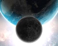 + exploring worlds / logo, image poster