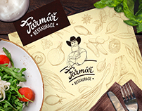 Farmář Restaurant, identity and illustrations