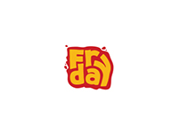 logo for fast food fries Fry day