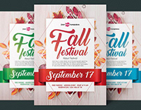 FREE AUTUMN FALL FESTIVAL FLYER IN PSD