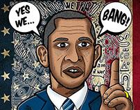 Obama Funny Portrait - Yes we Bang