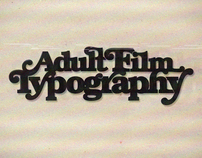 Adult film typography