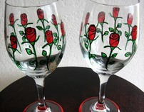 Hand-Painted Toasting Glasses