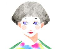 Green tea girl