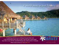 Tahiti Tourisme magazine advertising