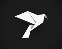 Origami Dove Logo