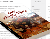 Our Family Table | Jacket Design & Book Layout