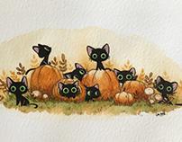 Little cats and pumpkins