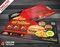 Restaurant Free Meal Voucher PSD Set