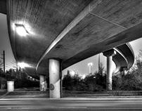 Bridge and Street at dusk