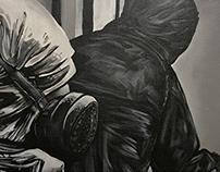 Graffiti Action canvas