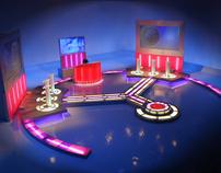 TV Light Enterainment Sets (Studio & Outside Broadcast)