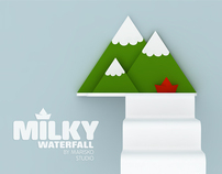 shelves - Milky Lake & Waterfall