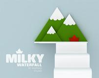 shelves - Milky Lake & Waterfall