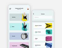 Music shop app