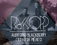 ROYKSOPP AUDITORIO BLACKBERRY CIUDAD DE MÉXICO