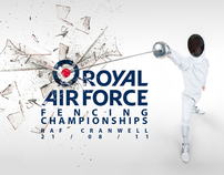 RAF Fencing Championships Poster
