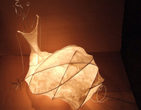 Lamp with silk paper.