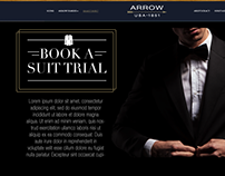 Book A Suit Landing Page for Arrow.
