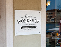 Logo Mockup, Wall Mount White Sign