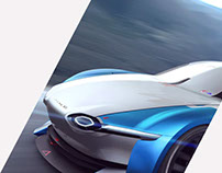 ALPINE RACING CONCEPT | Alpine blue color works