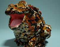 Happy Toad - Zbrush Sculpt