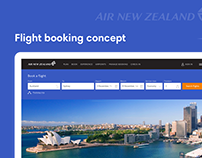 Flight booking concept for Air New Zealand