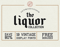 The Liquor Collection FONT BUNDLE
