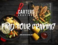 Carters Cravings - Menu Design