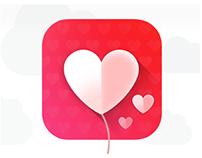 Heart baloon ios icon