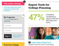 CollegeBoard - Student Landing Page (Responsive)