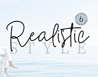 realistic Style Font